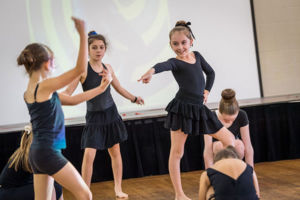 Students at St Catherine Labouré Catholic Primary School Gymea performing dance